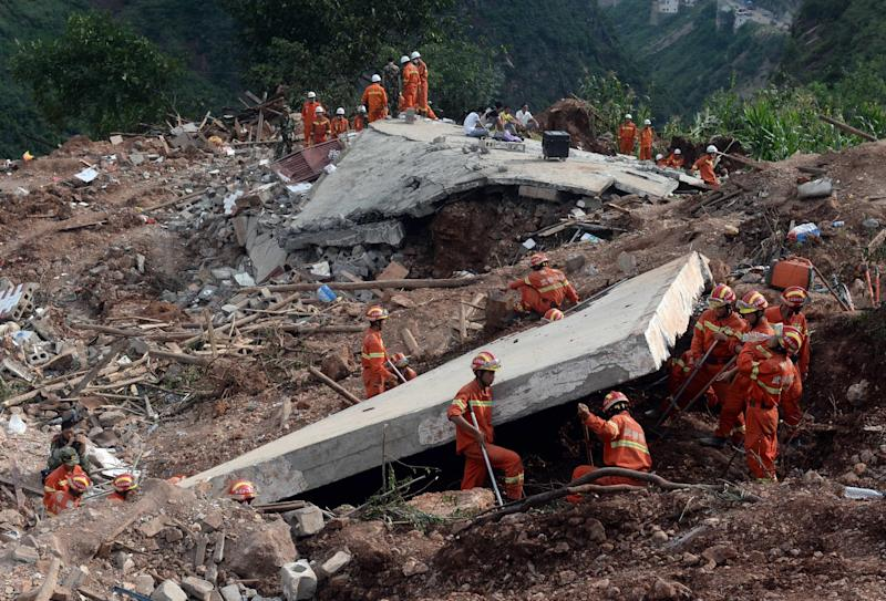 The remote Chinese province of Yunnan suffers frequent seismic activity and more than 600 people were killed when a 6.1 magnitude earthquake struck the mountainous region in August 2014 (AFP Photo/AFP)