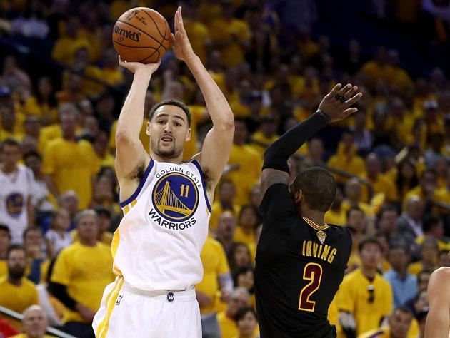Klay Thompson, brilliant so far in the 2017 Finals. (Getty Images)