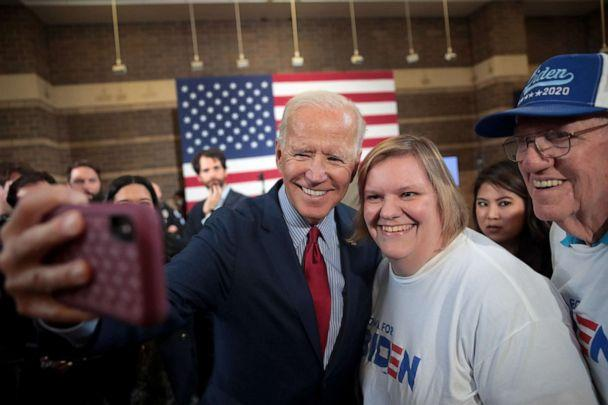 PHOTO: Democratic Presidential candidate former vice president Joe Biden greets guests during a campaign stop at the RiverCenter on October 16, 2019 in Davenport, Iowa. (Scott Olson/Getty Images)