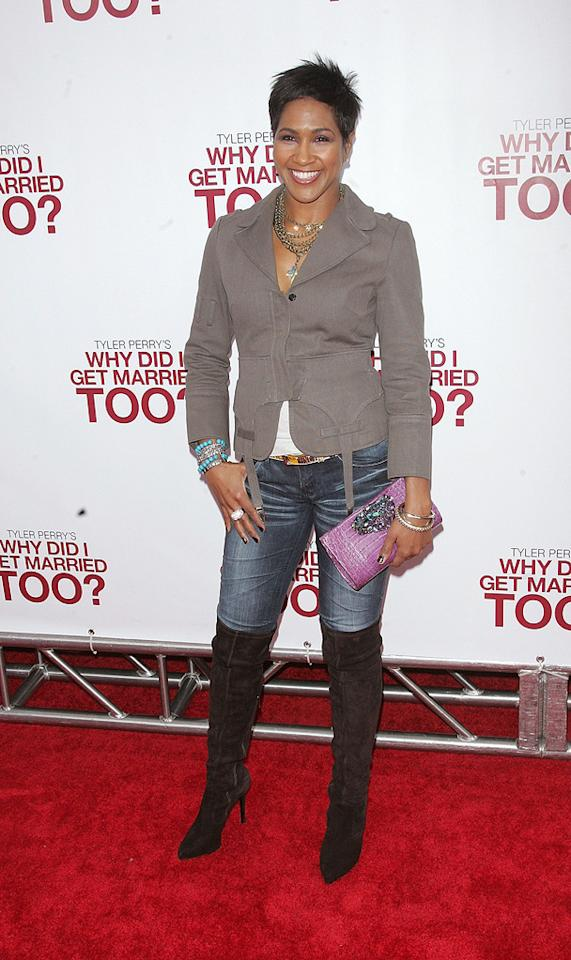 """<a href=""""http://movies.yahoo.com/movie/contributor/1802956644"""">Terri J. Vaughn</a> at the New York City premiere of <a href=""""http://movies.yahoo.com/movie/1810073266/info"""">Tyler Perry's Why Did I Get Married Too?</a> - 03/22/2010"""