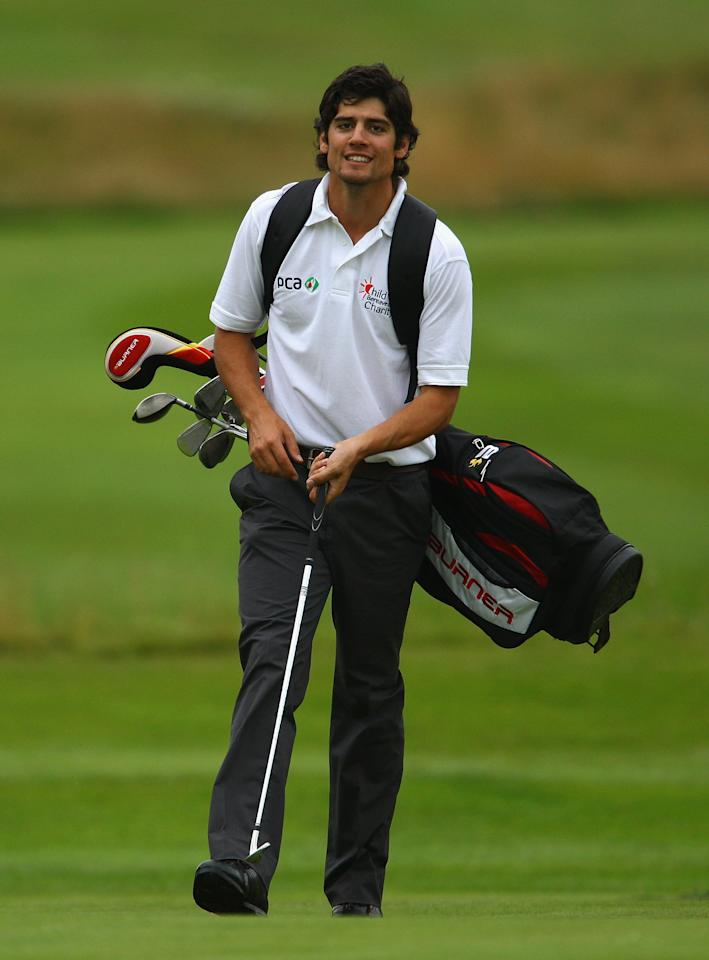 STOKE POGES, ENGLAND - JULY 21:  Alastair Cook, England cricket player looks on during the Child Bereavement Charity Ashes Golf Challenge at Stoke Park on July 21, 2009 in Stoke Poges, England.  (Photo by Julian Finney/Getty Images)