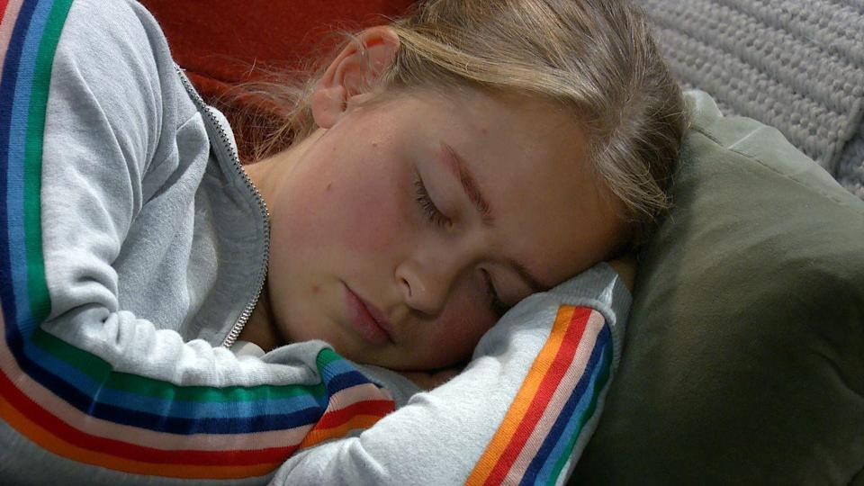 <p>She has another seizure.</p>