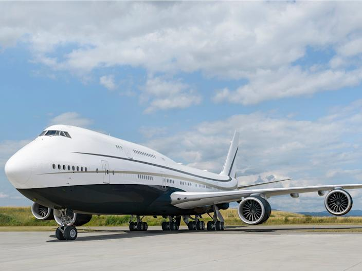 A Boeing Business Jet 747-8i.