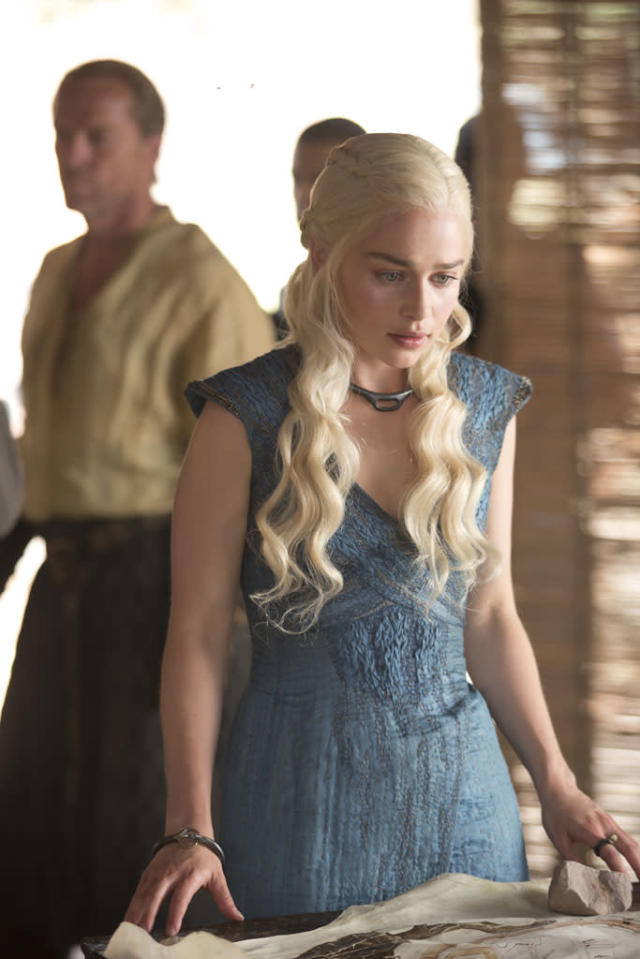"""Iain Glen and Emilia Clarke in the """"Game of Thrones"""" episode, """"The Rains of Castamere."""""""