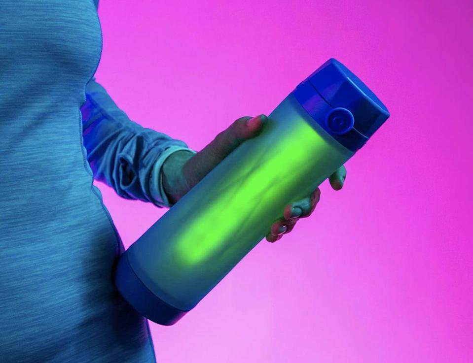 <p>This Bluetooth <span>Smart Water Bottle</span> ($60) will track his water intake by pairing with an accompanying app and helping your guy stay hydrated and healthy.</p>