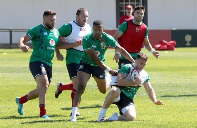 The Lions completed their first training session on Monday