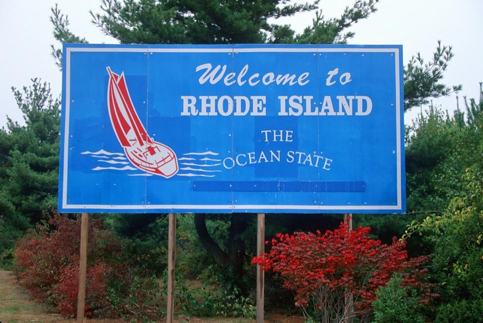 rhode island welcome sign