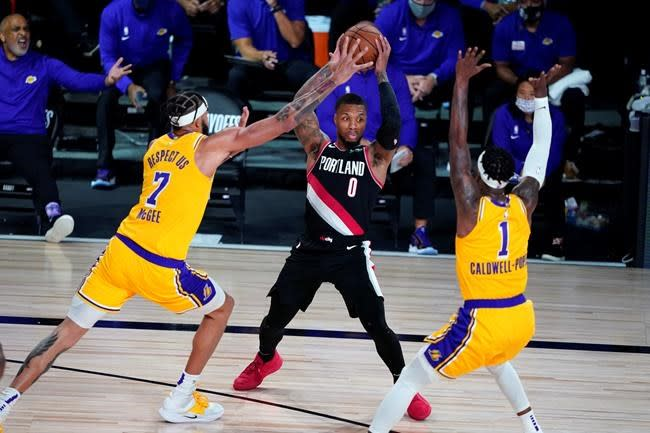 Lillard scores 34 and Blazers beat Lakers 100-93 in Game 1