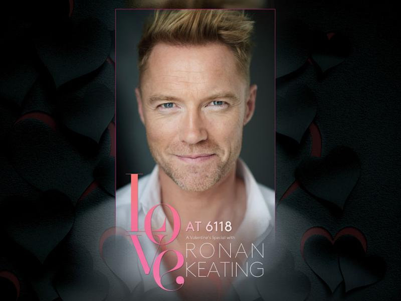 Ronan Keating is all set to serenade fans' hearts this Valentine's Day.