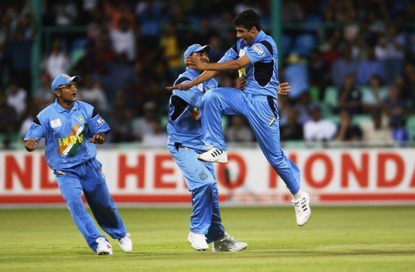 Left-arm paceman Ashish Nehra ran through the English line-up.