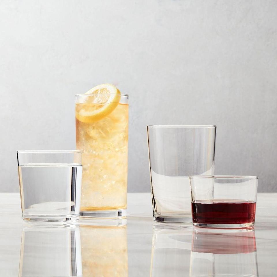 <p>It's time to upgrade your glassware, and we know where to start. The <span>West Elm Bormioli Rocco Bodega Casual Glassware Set</span> ($5-$28, originally $5-$33) comes in a number of sizes, and we want them all. </p>
