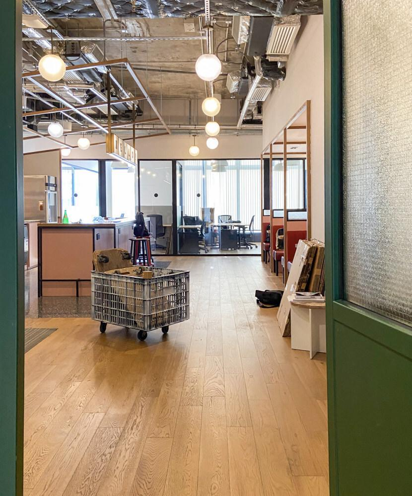A view of WeWork's co-working space on the 11th floor of Tower 535 in Causeway Bay, Hong Kong on March 31, 2021. Photo: SCMP/ Sandy Li