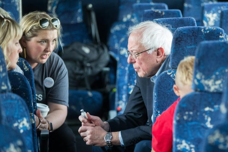Democratic presidential candidate Bernie Sanders accompanied a group of diabetic Americans on a bus trip to Canada to buy insulin, where it costs less than a tenth of what it does in the United States