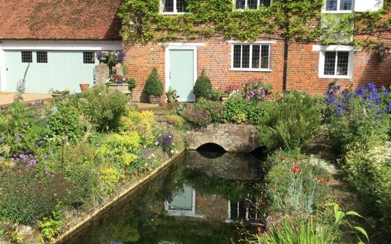 Mill House with its original mill stream benefit from the River Misbourne flowing through - National Garden Scheme