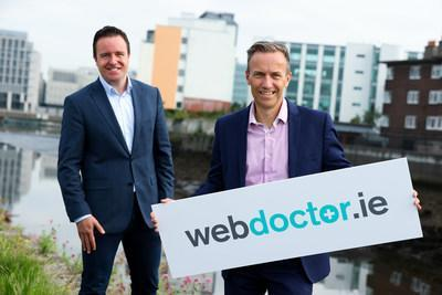 Alan Foy (left), Chairman and Managing Partner, VentureWave Capital and David Crimmins, CEO, WebDoctor.