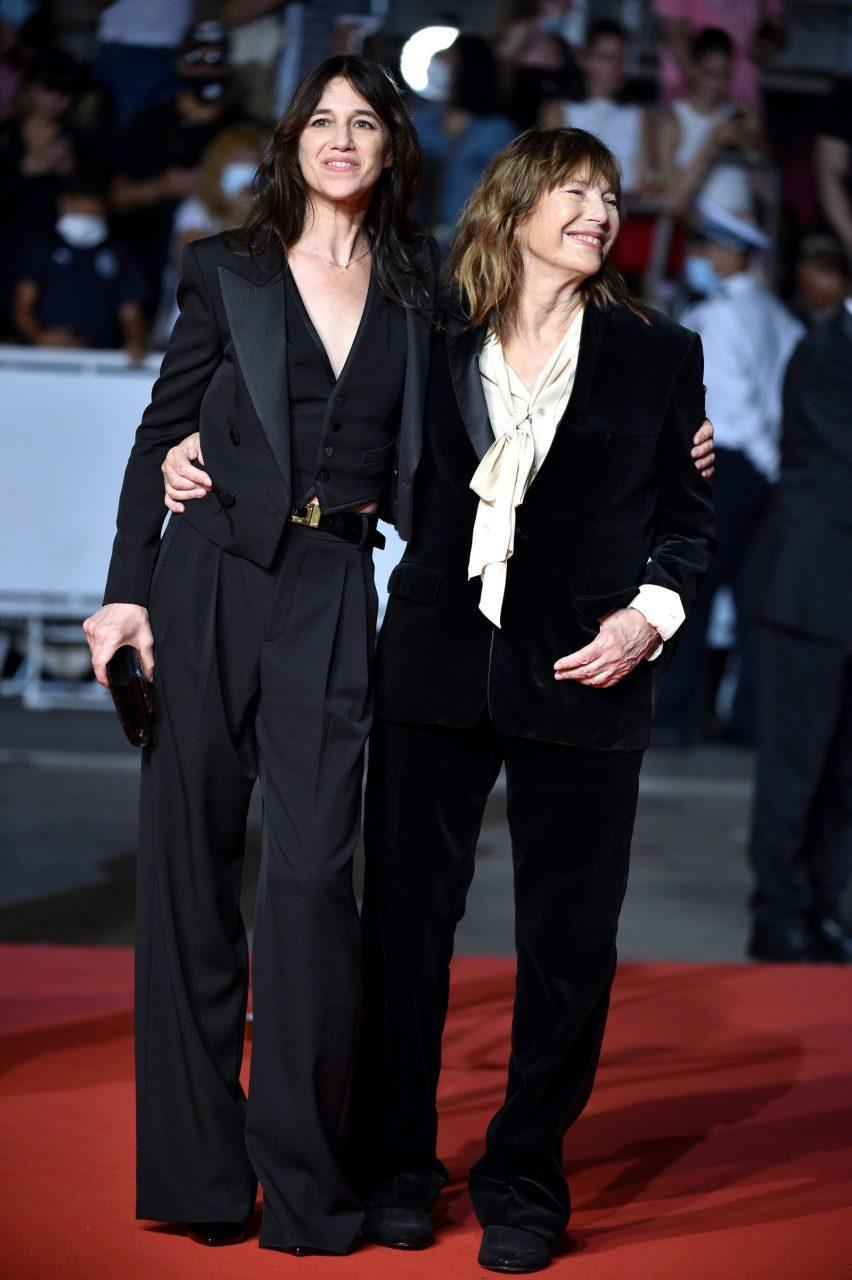 Charlotte Gainsbourg in Saint Laurent by Anthony Vaccarello and Jane Birkin