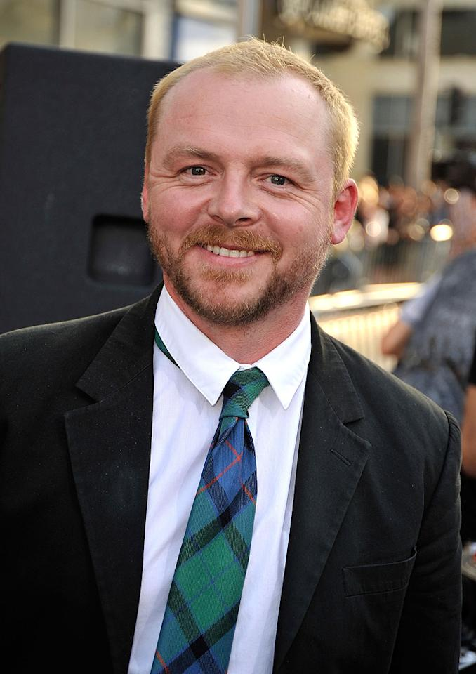 """<a href=""""http://movies.yahoo.com/movie/contributor/1804763358"""">Simon Pegg</a> at the Los Angeles premiere of <a href=""""http://movies.yahoo.com/movie/1809752801/info"""">Star Trek</a> - 04/30/2009"""