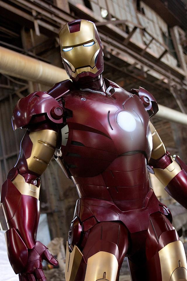 "IRON MAN <br>""<a href=""http://movies.yahoo.com/movie/1808411893/info"">Ironman</a>""<br>Grade: A <br>Tony Stark is always dressed to impress, but the playboy billionaire looks best once he slips into his crimson-and-gold, rocket-powered battle suit."