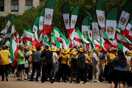 Iranian-American activists hold protest rally outside the White House in Washington