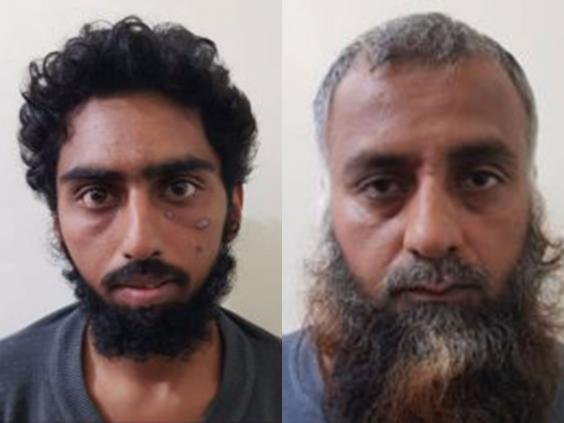 Alleged Isis members Abed al-Azem Rajhoud and Fadel al-Rahman Jad, from Pakistan, have been detained in Syria (SDF)