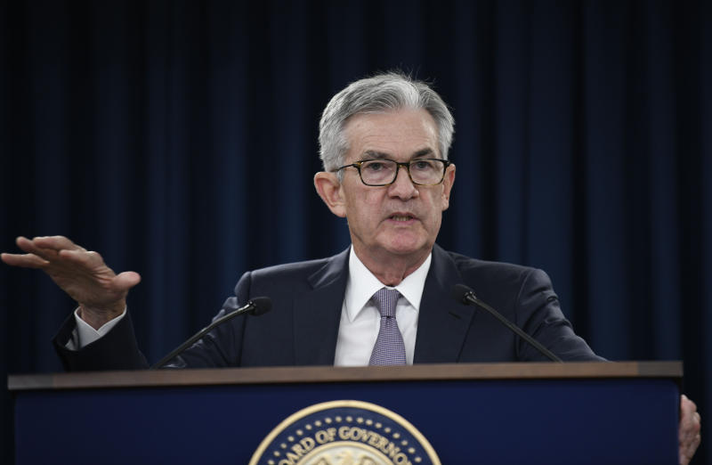 WASHINGTON, Sept. 18, 2019 -- U.S. Federal Reserve Chairman Jerome Powell speaks during a press conference in Washington D.C., the United States, on Sept. 18, 2019. U.S. Federal Reserve on Wednesday lowered interest rates by 25 basis points amid growing risks and uncertainties stemming from trade tensions and a global economic slowdown, following a rate cut in July that was its first in more a decade. (Photo by Liu Jie/Xinhua via Getty) (Xinhua/Liu Jie via Getty Images)
