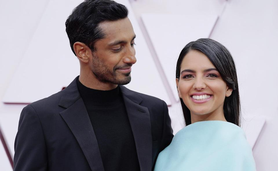 """<p>Yep, Riz and Fatima had a <em>literal</em> coffee-shop meet-cute! """"<a href=""""http://www.youtube.com/watch?v=Zy5NRxF0JbM"""" class=""""link rapid-noclick-resp"""" rel=""""nofollow noopener"""" target=""""_blank"""" data-ylk=""""slk:We met so randomly"""">We met so randomly</a>. . . . We were both jostling over the same laptop plug points, like a very modern way of meeting,"""" Riz revealed on <strong>The Tonight Show</strong> in January.</p>"""