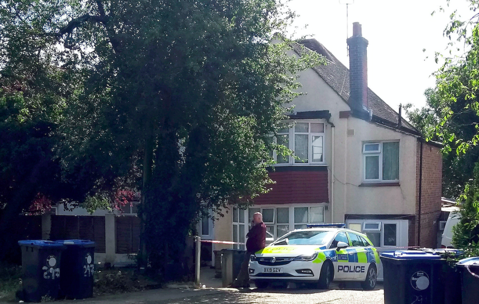 Police arrested a woman after they were called to an address in Wembley. (SWNS)