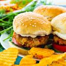 """<p>Take dinner to the next level when you chef up these mouthwatering crawfish burgers. Served in a bun with lettuce, tomato, and creamy dill sauce, these seafood sliders will steal the show. Pair them with crunchy potato chips or homemade fries for best results.</p> <p><strong>Get the recipe</strong>: <a href=""""https://spicysouthernkitchen.com/crawfish-burgers/"""" class=""""link rapid-noclick-resp"""" rel=""""nofollow noopener"""" target=""""_blank"""" data-ylk=""""slk:crawfish burgers"""">crawfish burgers</a></p>"""