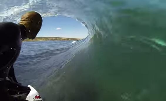 Watch Kelly Slater Surfing With 'Shark' in Australia's Margaret River