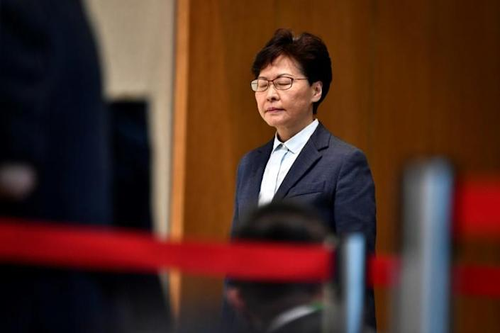 Beyond agreeing to suspend the extradition bill there have been few other concessions from Hong Kong's leader Carrie Lam, who has kept a low profile as clashes escalate (AFP Photo/Anthony WALLACE)