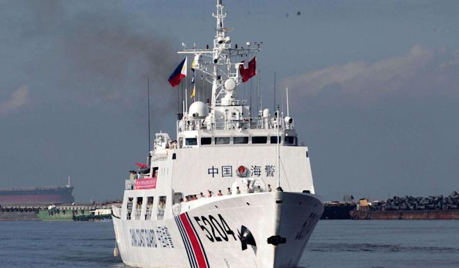 The 12 were captured at sea by the Chinese coastguard. Photo: Weibo