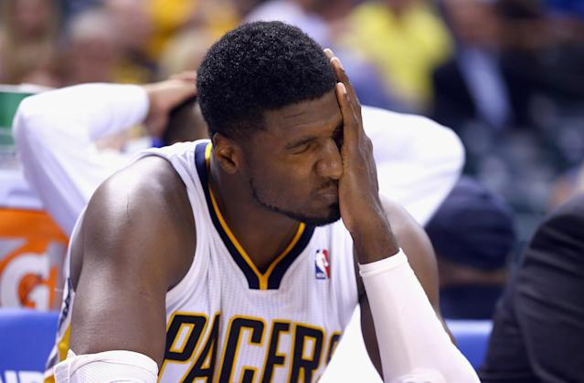 Roy Hibbert will need to stay confident, aggressive and on the court. (Andy Lyons/Getty Images)