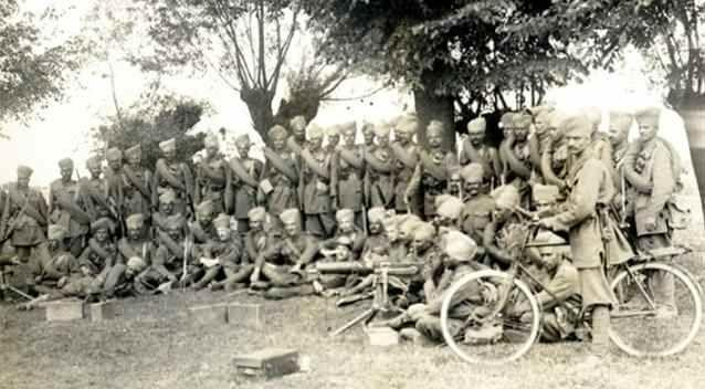 The 6th Jat Regiment stops to pose for a photograph. Photo: Supplied.