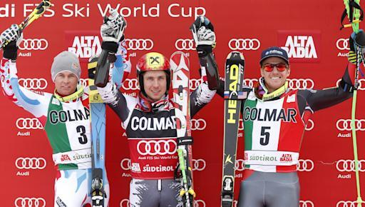 Hirscher wins, Ligety 3rd in Alta Badia GS