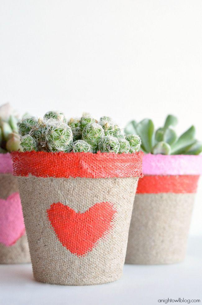"""<p>There's no such thing as too many succulents. For a super sweet party favor, send your guests home with these adorable painted pots. </p><p><em><a href=""""https://www.anightowlblog.com/succulent-valentine/"""" rel=""""nofollow noopener"""" target=""""_blank"""" data-ylk=""""slk:Get the tutorial at A Night Owl Blog »"""" class=""""link rapid-noclick-resp"""">Get the tutorial at A Night Owl Blog »</a></em></p>"""