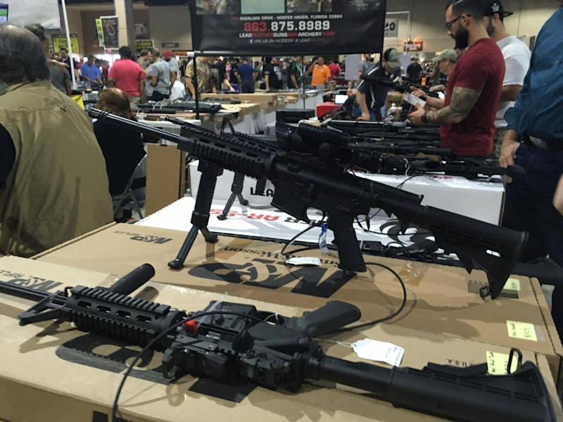 A smorgasbord of weapons were on display at the Miami show