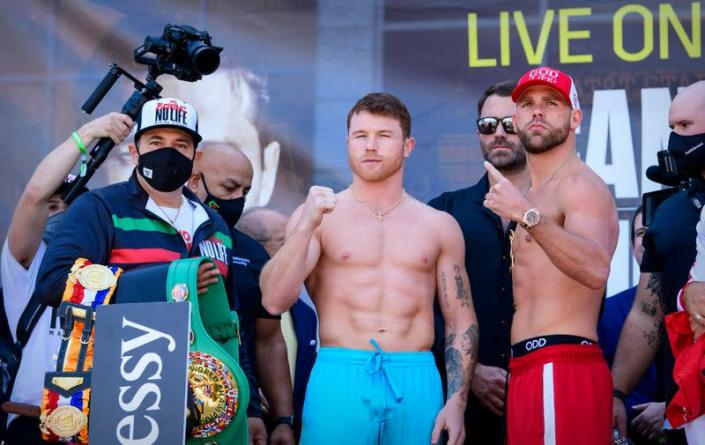 Boxing: Canelo vs Saunders-Weigh Ins