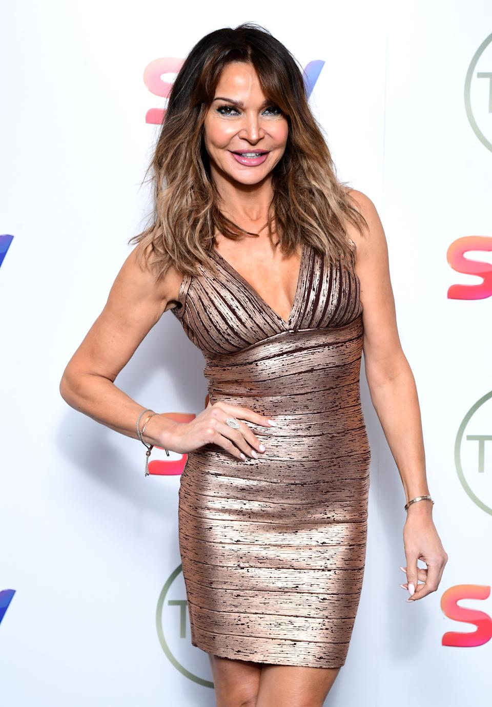 Lizzie Cundy attending the TRIC Awards 2020 held at the Grosvenor Hotel, London. (Photo by Ian West/PA Images via Getty Images)