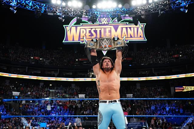 "WWE Champion AJ Styles has faced a unique road to his ""dream match"" against Shinsuke Nakamura at WrestleMania 34. (Photo courtesy of WWE)"
