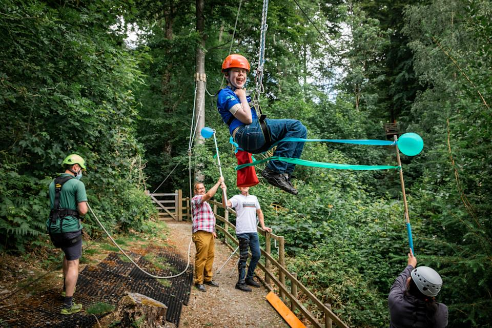 Oliver loves to test himself against the activities at The Calvert Trust. (Steve Barber)