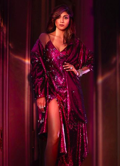 Shilpa Shetty Kundra chose to turn into a human disco ball at a fashion event. While bling may be in this party season, Shilpa overdid it, making it look very tacky.