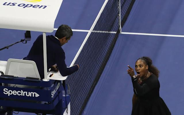 Serena Williams vents at umpire Carlos Ramos during Saturday's heated US Open final - Getty Images North America