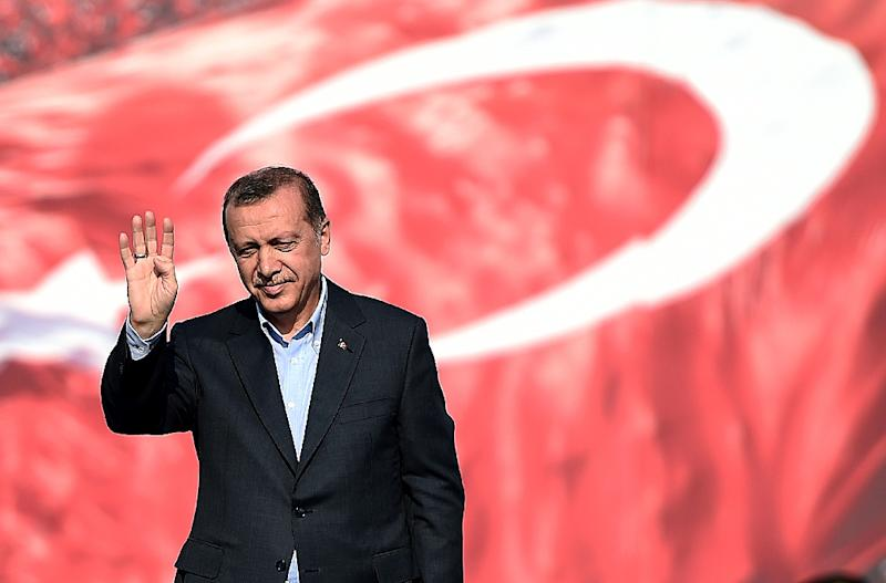 One of Turkey's most prominent anti-government journalists was attacked early Thursday outside his home in Istanbul, raising fears over the security of media figures who take a critical line against President Recep Tayyip Erdogan (pictured) (AFP Photo/Ozan Kose)