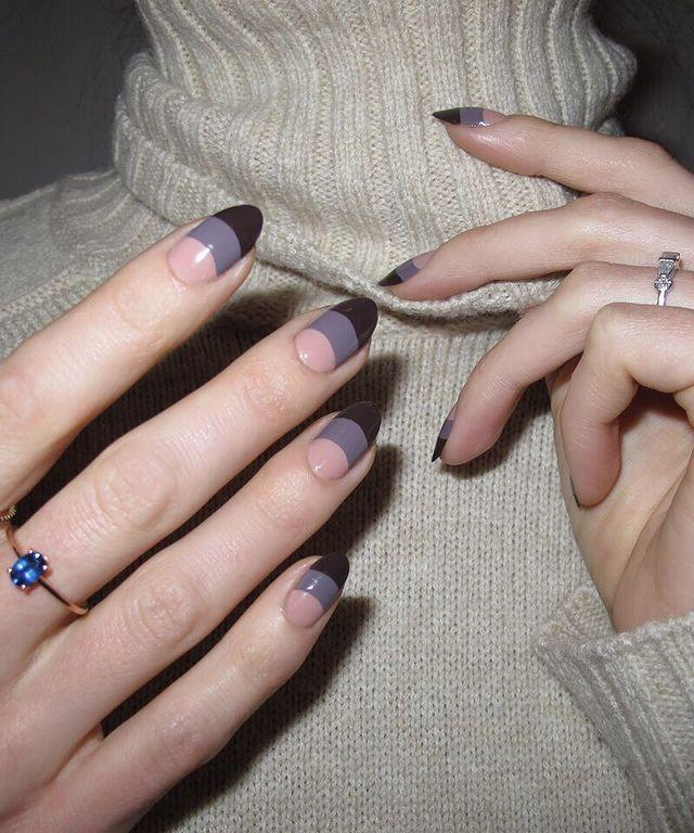 """<p>The French manicure is back for 2019 and this tonal design is proof that you don't have to give it up now the temperatures have dropped. </p><p><a href=""""https://www.instagram.com/p/Be1iNJ3H8ta/"""" rel=""""nofollow noopener"""" target=""""_blank"""" data-ylk=""""slk:See the original post on Instagram"""" class=""""link rapid-noclick-resp"""">See the original post on Instagram</a></p>"""