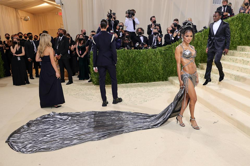 """<h1 class=""""title"""">Teyana Taylor, The 2021 Met Gala Celebrating In America: A Lexicon Of Fashion - Arrivals</h1><cite class=""""credit"""">Getty</cite>"""