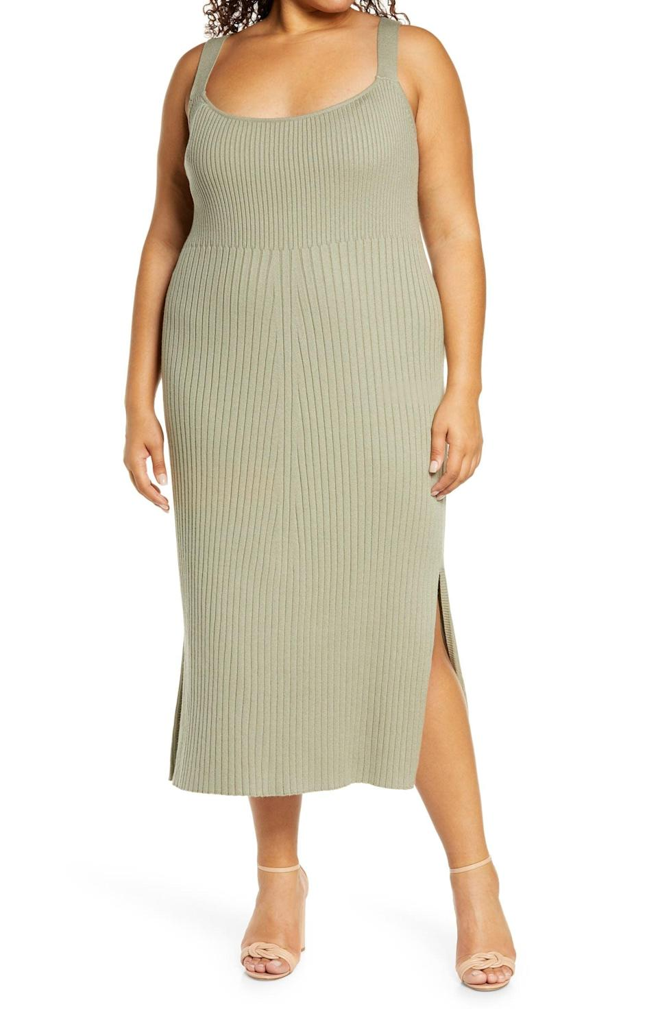 <p>Pair this <span>Wayf Gillian Ribbed Tank Dress</span> ($41, originally $68) with a gold necklace and your favorite mules.</p>