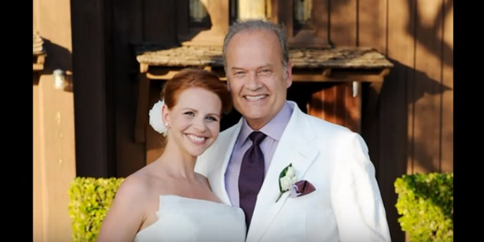 <p>Grammer and Kayte Walsh's love story was fairy tale-esque. Star of Fraiser and the voice of <i>Sideshow Bob </i>on <i>The Simpsons,</i> Grammer met his lady love on a flight, he took to England. Kayte was an attendant on his flight and less than a year after they met, she became his fourth wife. Well, what do we say, Grammer's a romantic!</p>