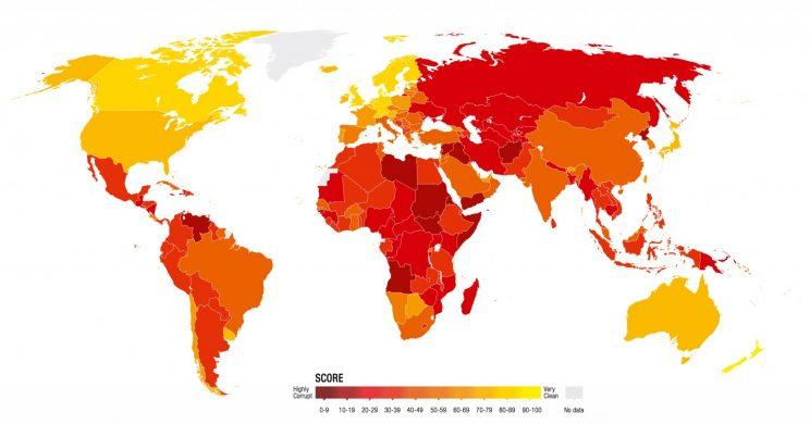 40 most corrupt countries in the world