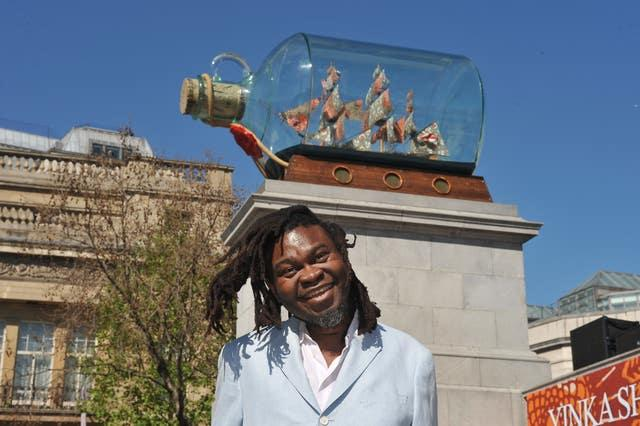 Yinka Shonibare is famous for his work Nelson's Ship In A Bottle, previously on the Fourth Plinth in Trafalgar Square, London