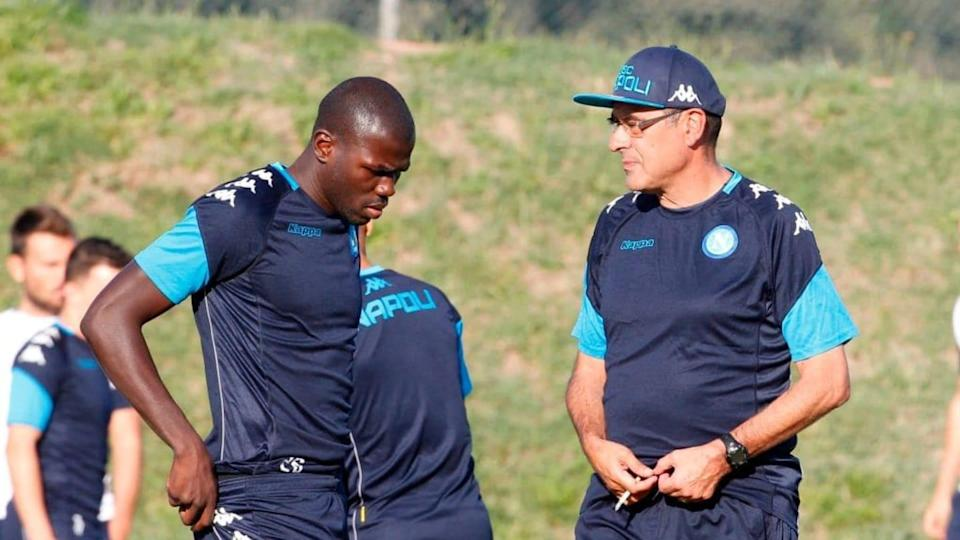 Koulibaly e Sarri | AFP Contributor/Getty Images